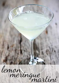 Lemon Meringue Martini  Ingredients:  Juice of one fresh lemon 1/2 oz of simple syrup 1 oz of marshmallow vodka (that is dangerously good stuff) splash of Pellegrino