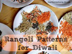 Beautiful Divali rangoli patterns kids can make