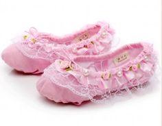 ballet shoes 014 pink lace