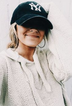 seriously, how cute? | baseball hat, sweatshirt, fall, mom outfit, fashion inspiration, casual, everyday, day to night, date outfit, minimalist, minimalism, minimal, simplistic, simple, modern, contemporary, classic, classy, chic, girly, fun, clean aesthetic, bright, white, pursue pretty, style, neutral color palette, inspiration, inspirational, diy ideas, fresh, street style, on point, trendy, on trend, glam, tousled, boho, stylish, 2017, sophisticated