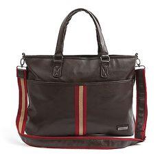 Messenger bags for men leather Tote bag Brown Adrena 102