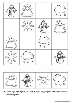 Jitka Krausová – Seznam Email Sudoku Puzzles, Puzzles For Kids, Kindergarten Math Worksheets, Worksheets For Kids, Educational Activities For Kids, Preschool Activities, Preschool Pictures, Weather Crafts, Grande Section