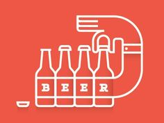 """Dribbble   Beer by Brent Cou…"" on Designspiration"