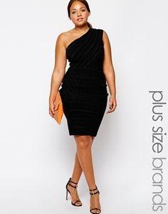 Forever Unique Plus Size Esta Bandage Dress - Black