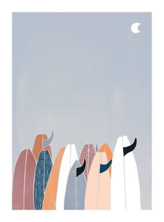 Get Foamie looks at the work of Lizzy Art in our Surf Artist Spotlight Series Kunst Inspo, Art Inspo, Art And Illustration, Surf Retro, Surf Drawing, Surfing Wallpaper, Surfboard Art, Surf Art, Jolie Photo