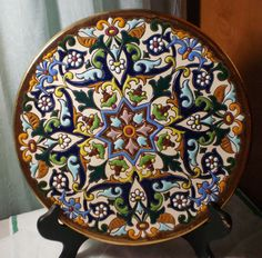 CERAMICAS SEVILLA MAJOLICA DECORATIVE PLATE