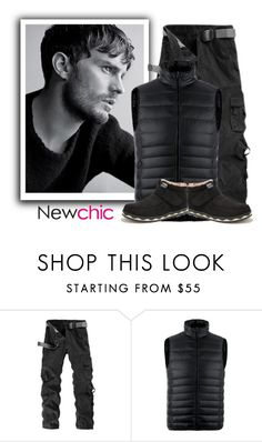 """19. Newchic"" by fashionunion-1 ❤ liked on Polyvore featuring men's fashion and menswear"