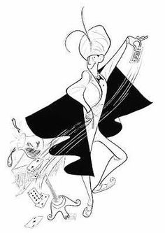 'ray bolger as a bumbling magician' by al hirschfeld