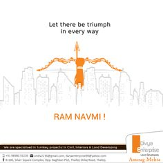Divya Enterprise wishes you all a very Happy Ram Navami and may Lord Rama bless you with prosperity and happiness for you and your family. Hindu Festivals, Indian Festivals, Ram Navmi, Happy Ram Navami, International Literacy Day, Festival Flyer, Web Design Agency, Creative Ideas, Wish