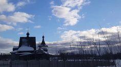 Russische Kirche im Winter- Winterlandschaft- Autoreise durch Russland-Natur video doku 2017