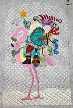 It's not your Grandmother's Needlepoint: Stitcherie Games 2014 Stitched by the very talented Mary T