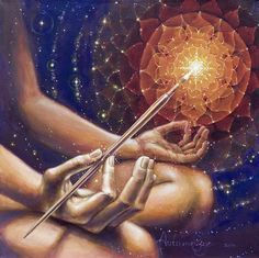"""""""On the path of Love we are neither masters nor the owners of our lives. We are only a brush in the hand of the Master Painter."""" ― Rumi ♥ Beautiful art by Autumn Skye Morrison"""