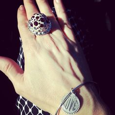 Wearing our #Heart of a Liar #Ring and #Love #Bracelet today.
