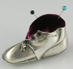Sterling Shoe Pin Cushion Birmingham 1906