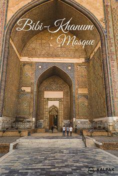 Bibi- Khanum Mosque in #Samarkand #Uzbekistan #CentralAsia #travel #destinations #inspiration #bibikhanum #architecture #silkroad #heritage #bucketlist #culture #traditional #design #city #inspiration #history #mosque #decor #trips