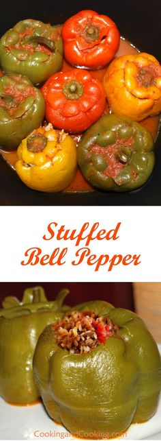 Green Pepper Dolma (Stuffed Green Pepper)