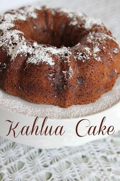 Chocolate Kahlua Cake - the easiest, richest, moistest chocolate cake you'll ever have!