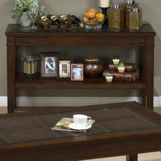 Lexington Casual Sofa Table w/Raised Panel Top
