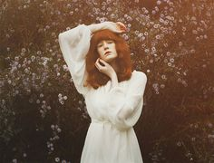 Margaret, stay for me. by Marina Refur on Angel Aesthetic, Witch Aesthetic, Florence Welch Style, Poses, Autumn Witch, Alternative Photography, Rock Queen, Florence The Machines, Sweet Girls