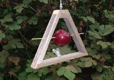 Rustic Hanging Cedar Fruit Feeder by SwampwoodCreations on Etsy, $15.00