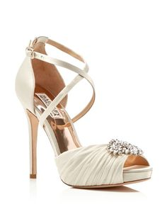 Badgley Mischka Cacique Jeweled High Heel Pumps