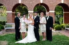 Southern weddings - family portrait away from the altar
