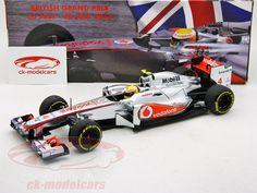 McLaren MP4-27 Showcar, Promo model British GP 2012, Lewis Hemilton, McLaren F1 Team. Minichamps, 1/18, Limited Edition 1000 pcs. Price (2016): 80 EUR.