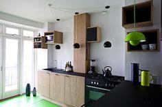Køkken i egefinér og desktop linoleum #indretning #interior #furniture #design #snedkeri #handmade #kitchen #karstenk #rum4 www.rum4.dk