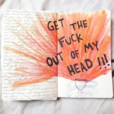 Image about journaling in Journals 📓 by shahina 🖤 Art Journal Pages, Journal Quotes, My Journal, Bullet Journal Inspiration, Art Journals, Sketch Journal, Drawing Journal, Art Sketches, Art Drawings