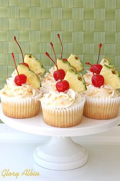 If you like Pina Colada Cupcakes and getting caught in the rain