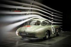 1952 Mercedes-Benz 300 SL (W 194) race car in the Untertuerkheim wind tunnel