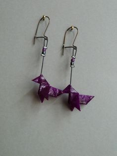 Bird Origami earrings  from Claire's Origami by DaWanda.com