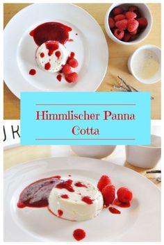 Himmlischer Panna Cotta mit echter Vanille und Himbeer-Sauce - Rezept auf Mutter&Söhnchen #Himbeeren #PannaCotta #Vanille #Nachtisch #Rezept
