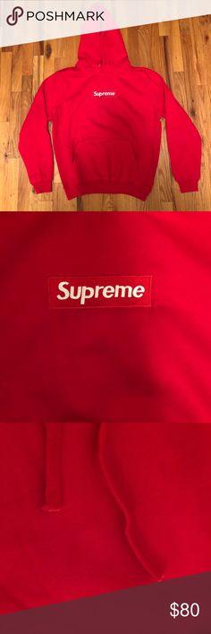 Supreme Red Box Logo Hoodie Brand New With Tags. Size Large Shirts Sweatshirts & Hoodies