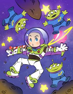 Buzz by pokori Cute Disney, Disney Art, Disney Pixar, Walt Disney, Disney Stuff, Dibujos Toy Story, To Infinity And Beyond, Star Vs The Forces Of Evil, Force Of Evil