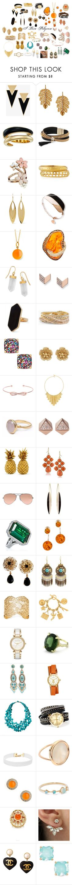 """""""Jewellery Gallery"""" by oduyemiseyi on Polyvore featuring Yves Saint Laurent, Marika, Michael Kors, Simons, Accessorize, Ashley Pittman, Kenneth Jay Lane, Syna, BillyTheTree and FOSSIL"""