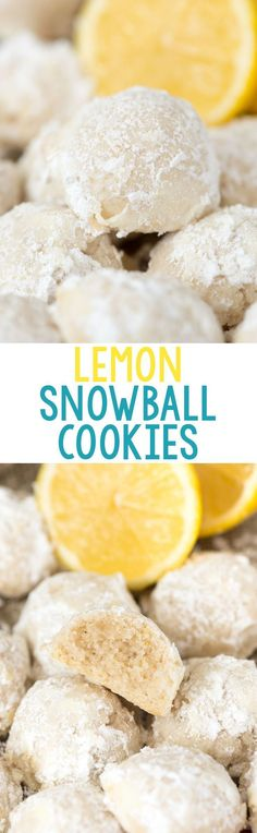 EASY Lemon Snowball Cookies – this is my favorite wedding cookie recipe! Add lem… EASY Lemon Snowball Cookies – this is my favorite wedding cookie recipe! Add lemon zest, juice, and extract to your favorite tea cakes to make the perfect lemon cookie. Tea Cake Cookies, Xmas Cookies, Cupcakes, Cookie Cakes, Owl Cookies, Baking Cookies, Holiday Baking, Christmas Baking, Christmas Desserts