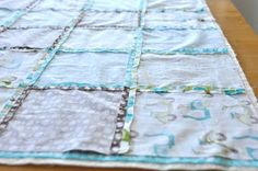 How to piece a quilt together - monaluna: simple baby quilt tutorial
