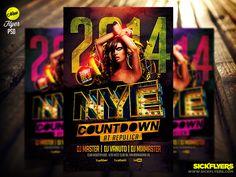 New Year Flyer Template by Industrykidz.deviantart.com on @deviantART