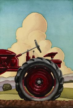 Watercolors - Farm Machinery - Kenton Nelson