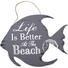 Wholesale Life is better nautical plaque - Something Different