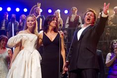 Katie Hall (Cosette), Rebecca Caine (Cosette) and Michael Ball (Marius) during the curtain call for the Les Miserables 25th Anniversary Concert at The O2 Arena, London, England on the 3rd October 2010. #theatre #lesmis #musicals  (Credit: Dan Wooller/wooller.com) http://www.lesmis.com/