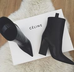 The black Céline booties are what our shoe dreams are made of. Stay tuned every Tuesday for our favorite picks.