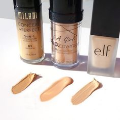 Which one is your favorite?!! I tend to find myself reaching for a dewy finish (LA Girl Pro Coverage Foundation, Middle) SHOP AT - http://www.ikatehouse.com/catalogsearch/result/?q=CKH1767+CKH1486+AKH1312