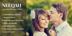 Neeqah - Wedding WordPress Theme . Neeqah is probably the best wedding theme for WordPress we've build so far. It comes with tons of features to make it easy for you to setup your wedding