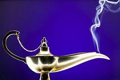 Close-up Of A Magic Lamp Emitting Smoke  / Royalty Free Images at Inmagine