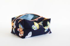 Royal Butterfly Boxed Cosmetic Bag by ShannonFraserDesigns | Handmade Make-up Storage Organization