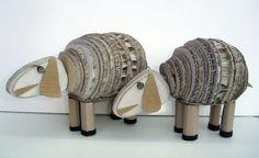 cardboard lambs