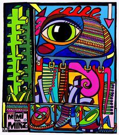 """""""Meerblinzerworld"""" by Mimi von Minz / Acryl on Canvas /  1,70m x 1,60 m"""
