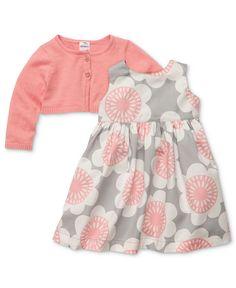 Carter's Baby Set, Baby Girls 2-Piece Printed Dress and Cardigan Set - Kids - Macy's